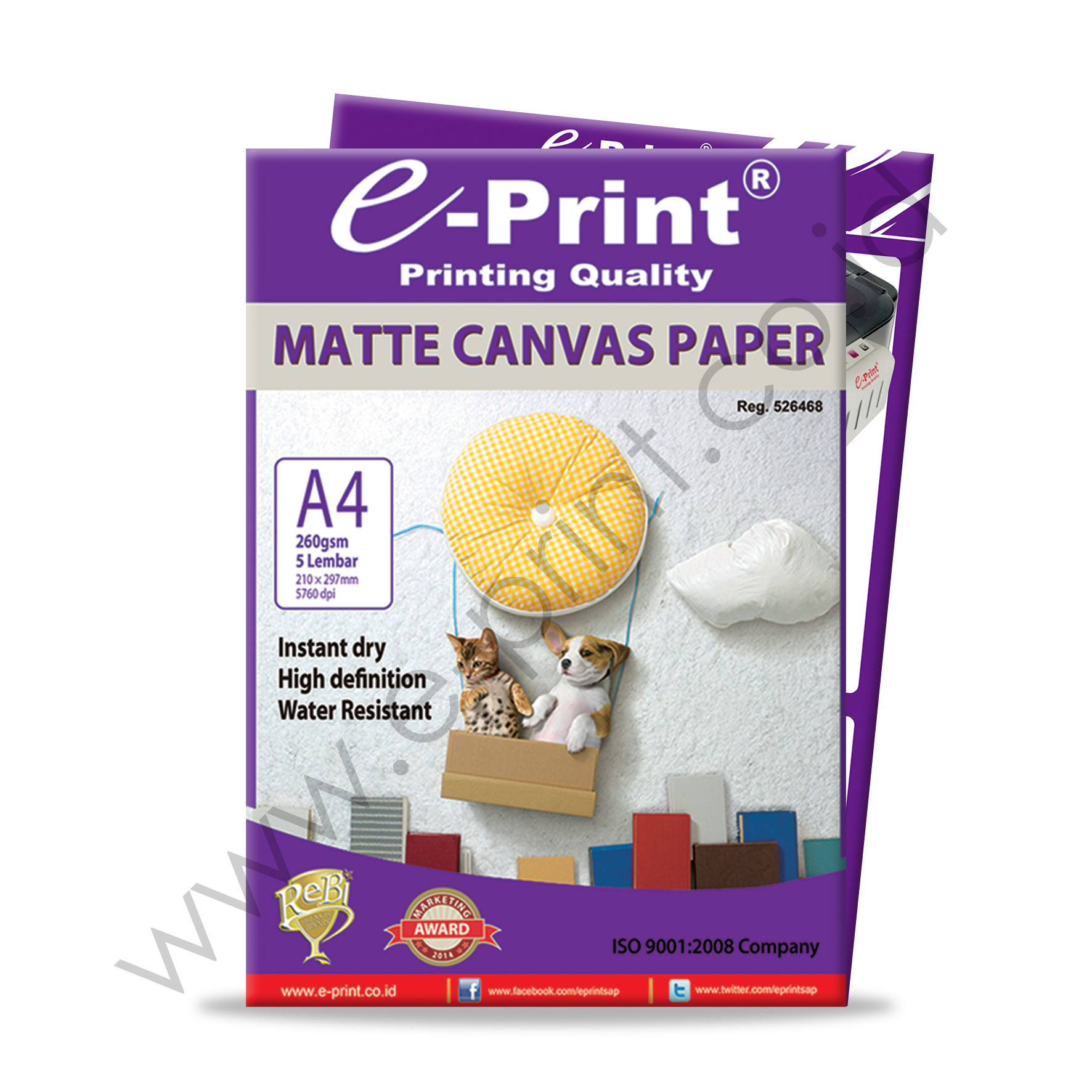 photo regarding Printable Canvas Paper called Matte Canvas Photograph Paper A4 260gsm